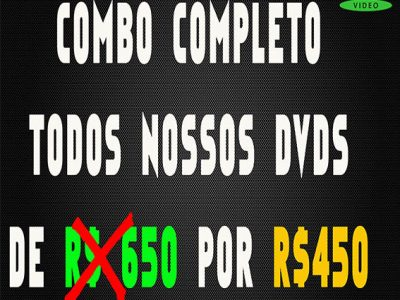 COMBO COMPLETO – TODOS OS DVDs LANÇADOS